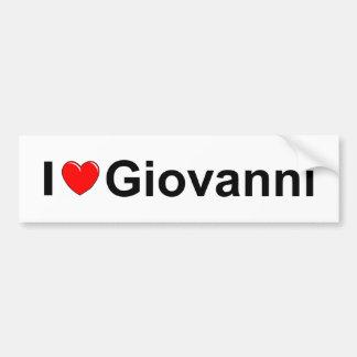 I Love (Heart) Giovanni Bumper Sticker