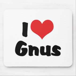 I Love Heart Gnus Mouse Pad
