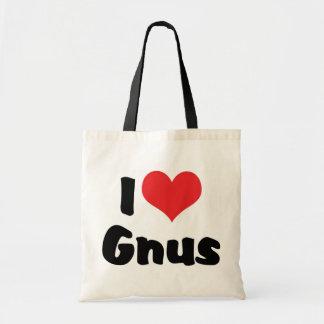 I Love Heart Gnus Tote Bag