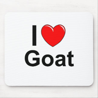 I Love Heart Goat Mouse Pad