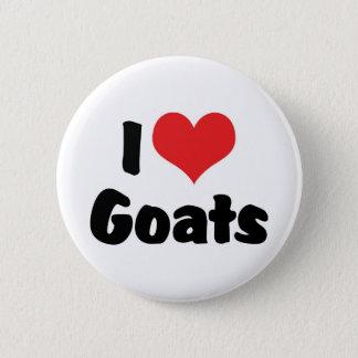 I Love Heart Goats - Goat Lover Pinback Button