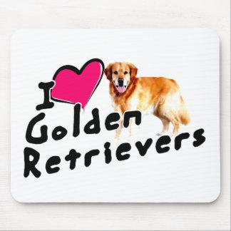 I love (heart) Golden Retrievers Mouse Pad
