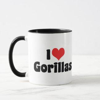 I Love Heart Gorillas - Gorilla Lover Mug