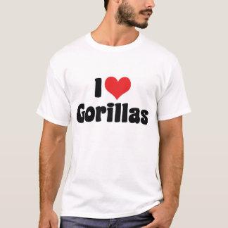 I Love Heart Gorillas - Gorilla Lover T-Shirt