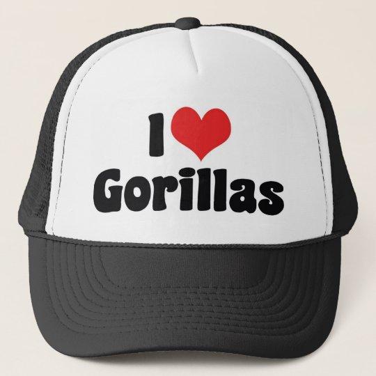 I Love Heart Gorillas - Gorilla Lover Trucker Hat