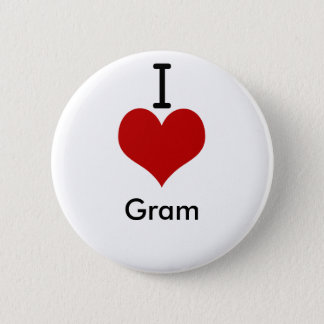 I Love (heart) Gram Button