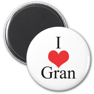 I Love (Heart) Gran 2 Inch Round Magnet