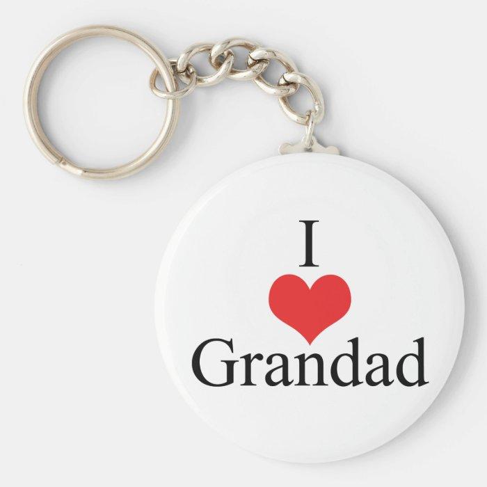 I Love (Heart) Grandad Keychain