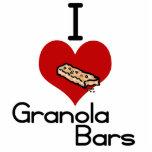 I love-heart granola bars acrylic cut out