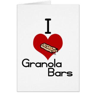 I love-heart granola bars cards