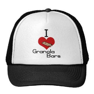 I love-heart granola bars mesh hats
