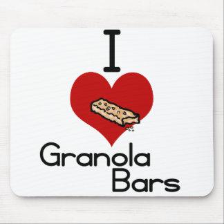 I love-heart granola bars mousepad