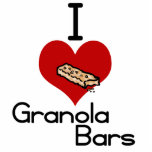 I love-heart granola bars photo sculpture ornament
