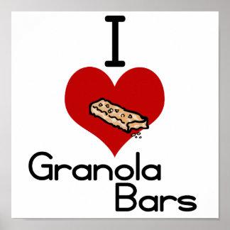 I love-heart granola bars posters