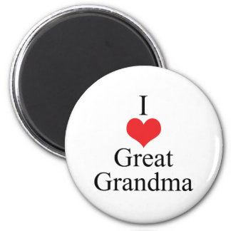 I Love (Heart) Great Grandma Magnet