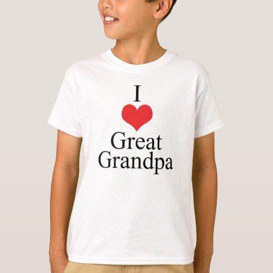 I Love (Heart) Great Grandpa T-Shirt