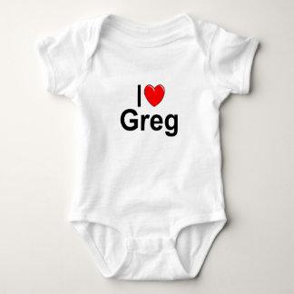 I Love (Heart) Greg Baby Bodysuit