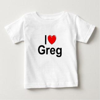 I Love (Heart) Greg Baby T-Shirt