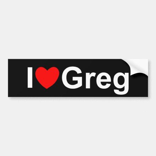 I Love (Heart) Greg Car Bumper Sticker