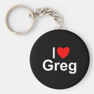 I Love (Heart) Greg Keychain