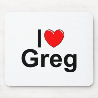 I Love (Heart) Greg Mouse Pad