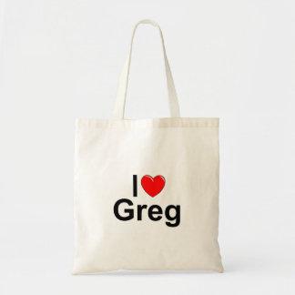 I Love (Heart) Greg Tote Bag