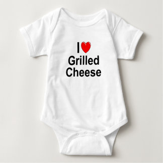 I Love (Heart) Grilled Cheese Baby Bodysuit