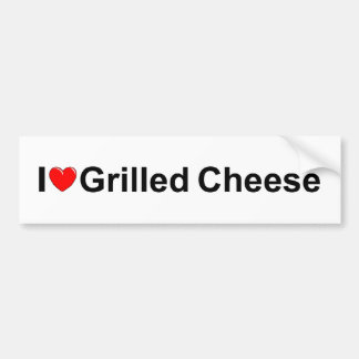 I Love Heart Grilled Cheese Bumper Sticker