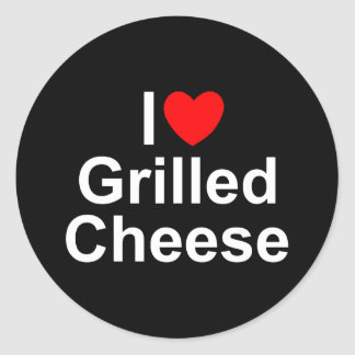 I Love (Heart) Grilled Cheese Classic Round Sticker