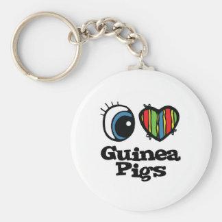 I Love (Heart) Guinea pigs Key Chains
