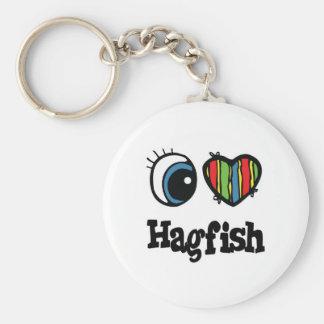 I Love (Heart) Hagfish Keychain