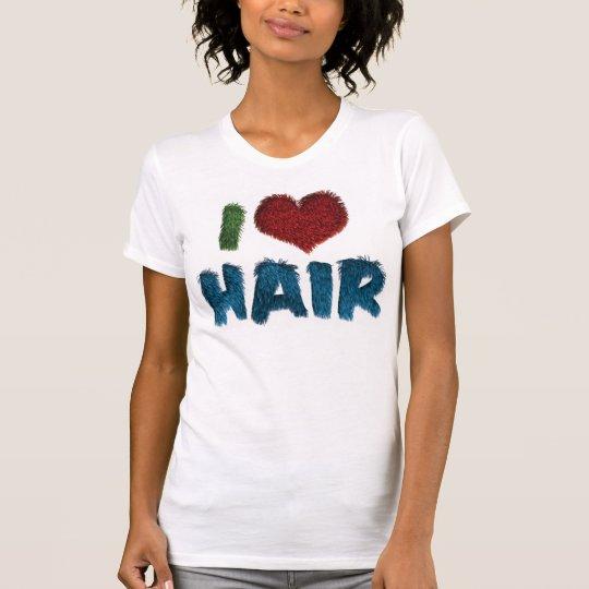 I Love Heart Hair - Hair Stylist Barber T-Shirt