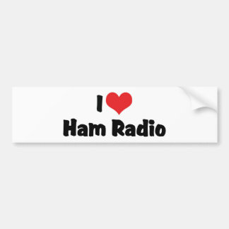 I Love Heart Ham Radio - Amateur Radio Lover Bumper Sticker