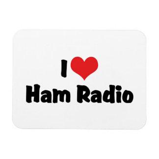 I Love Heart Ham Radio - Amateur Radio Lover Rectangular Photo Magnet
