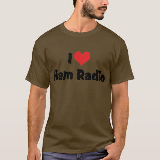 I Love Heart Ham Radio - Amateur Radio Lover T-Shirt
