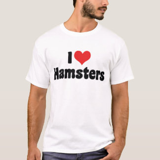 I Love Heart Hamsters T-Shirt