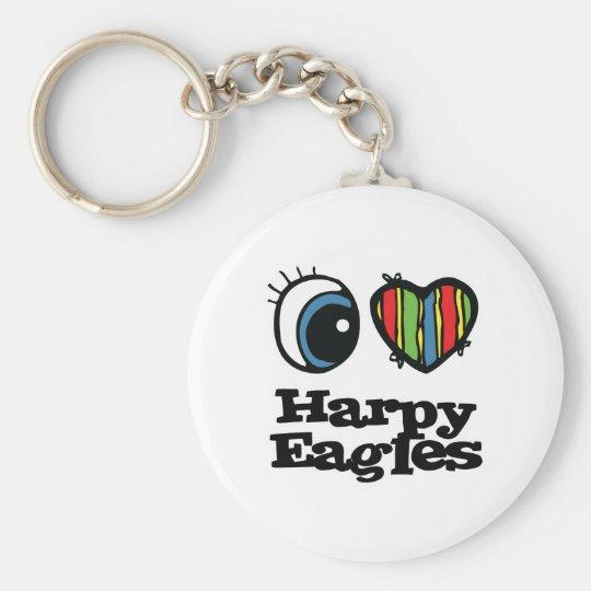 I Love (Heart) Harpy eagles Keychain