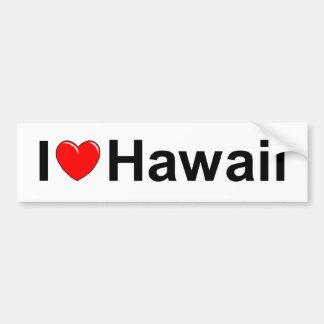 I Love (Heart) Hawaii Bumper Sticker