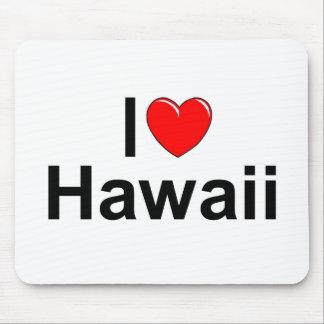 I Love (Heart) Hawaii Mouse Pad