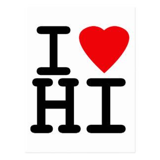 I Love Heart Hawaii Postcard