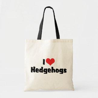 I Love Heart Hedgehogs Tote Bag