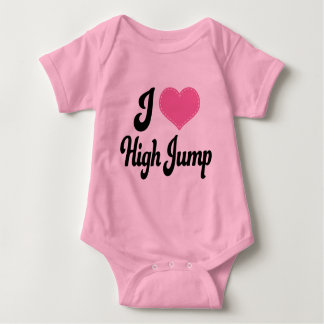 I Love (Heart) High Jump Baby Bodysuit