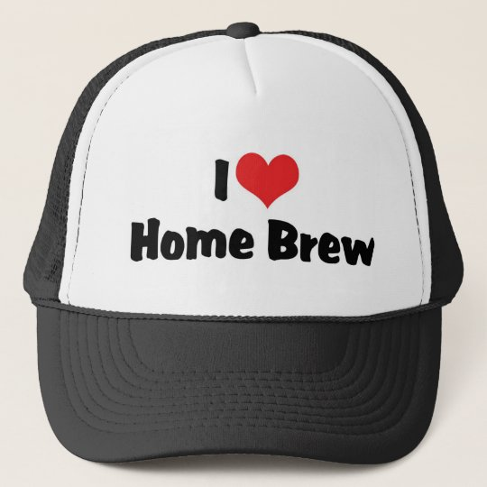 I Love Heart Home Brew - Beer Lover Trucker Hat
