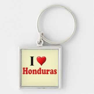 I Love (Heart) Honduras Keychain