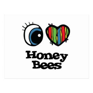 I Love (Heart) Honey bees Post Card