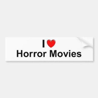 I Love Heart Horror Movies Bumper Sticker