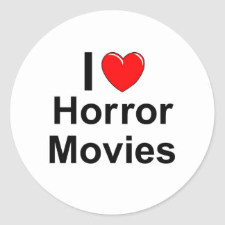 I Love Heart Horror Movies Classic Round Sticker