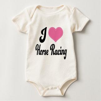 I Love (Heart) Horse Racing Baby Bodysuit