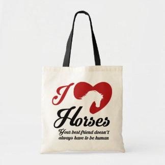 I Love/Heart Horses Tote Bag