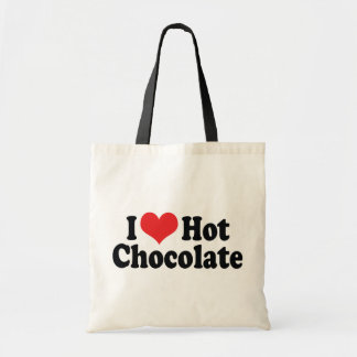 I Love Heart Hot Chocolate - Hot Cocoa Lovers Tote Bag